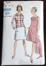 "1960's Vogue One-Piece Dress with Jacket Pattern - Bust 32"" - No. 7070"