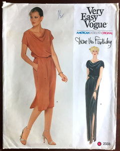 "1970's Vogue American Designer Maxi or Day Dress Pattern - Bust 32.5"" - UC/FF - No. 2333"