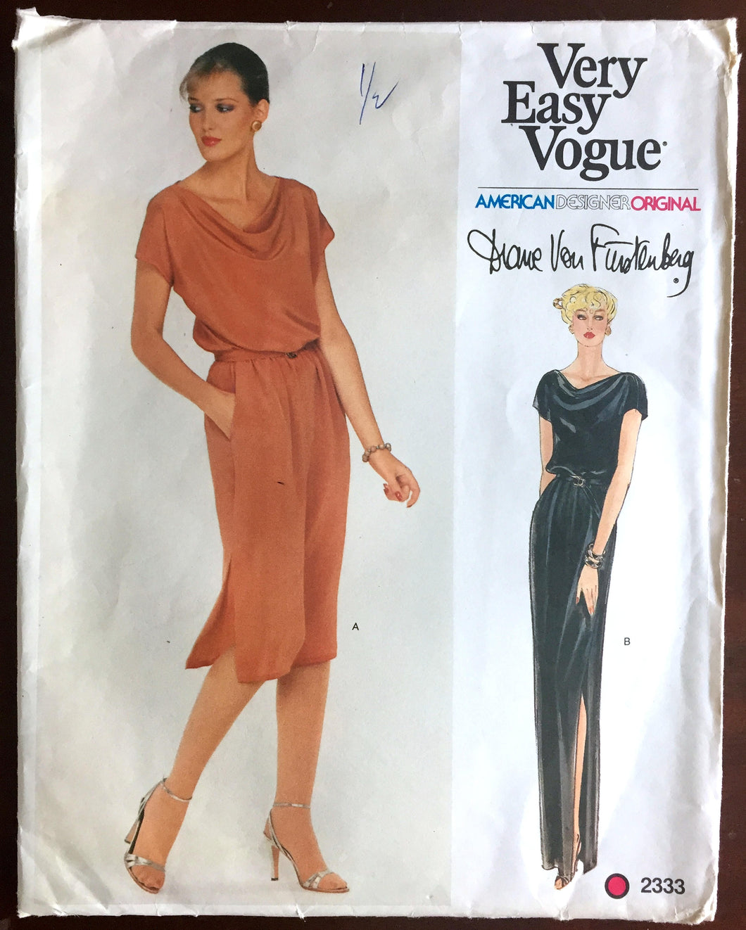1970's Vogue American Designer Maxi or Day Dress Pattern - Bust 32.5