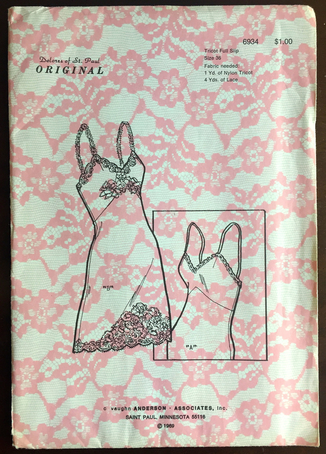1960's Fitted Slip pattern - Bust 36