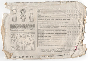 "1940's Simplicity Dress and Blouse Pattern - Bust 36"" - No. 4737"