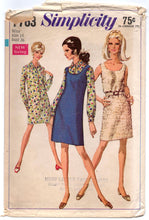 "1960's Simplicity One-Piece Dress or Shirtwaist Dress Pattern - Bust 36"" - No. 7763"