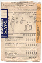 "1940's Advance Shirtwaist Dress with Tie Belt Pattern - Bust 36"" - No. 6815"