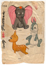 Digital Download - 1940's Simplicity Thumper Stuffed Animal Pattern - No. 7114