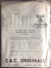 "1970's C&C Original Square Dance Dress pattern - Bust 40 - 44"" - No. 103"
