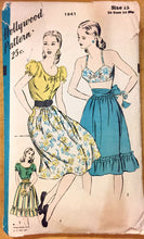 "1950's Hollywood Bra, Peasant Blouse, and Full Skirt Pattern - Bust 30"" - No. 1841"