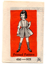 1950's Anne Adams Girl's Blouse and Culotte Pattern - 6 years - UC/FF - No. 4510