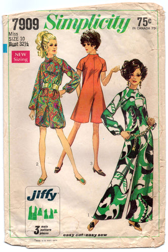 1960's Simplicity Romper and Jumpsuit Pattern - Bust 32.5