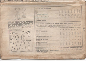 "1940's Simplicity Wrap Blouse with Tie-Front, Belt, Jabot, Scarf, Necktie Pattern - Bust 38-40"" -  No. 1412"