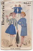 "1960's Butterick Jacket and Pleated or Six Gore Skirt Coordinates - Bust 31"" - No. 9640"