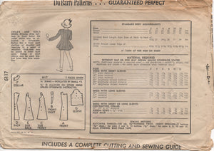 1940's DuBarry Girl's One Piece Princess Cut Dress with Inset Detail - 8yrs - No. 6117