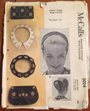 1950's McCall's Clutch Purse, Collar and Skinny Hat Pattern - One Size - no. 2024