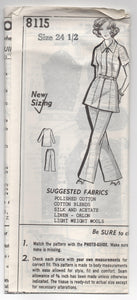 "1970's Grit Tunic and Wide Leg Pants - Bust 47"" - No. 8115"