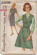 "1960's Simplicity Sheath Dress with two skirt styles and Blouse Pattern - Bust 42"" - No. 5209"