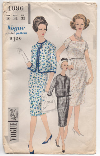 1960's Vogue Special Design Two Piece Suit and Blouse - Bust 31