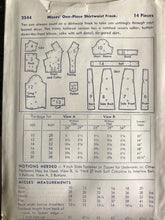 "1940's Butterick One Piece Shirtwaist Dress with Pocket - Bust 38"" - UC/FF - No. 2544"