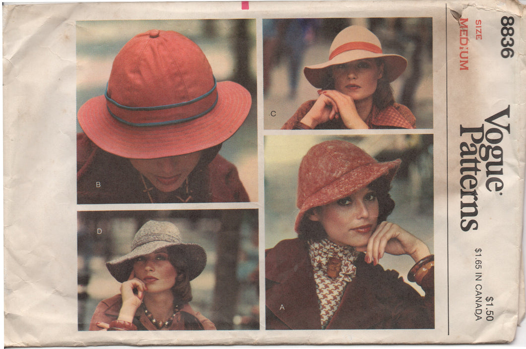 1970's Vogue Hat with Wide or Medium Brim - Head size 22