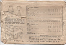 "1940's Simplicity Shirtwaist Dress with Soft Pleats, Bow Detail at Neck - Bust 34"" - No. 2180"