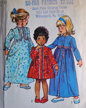 "1970's Simplicity Girl's Nightgown and Robe Pattern - Chest 23"" - no. 5994"