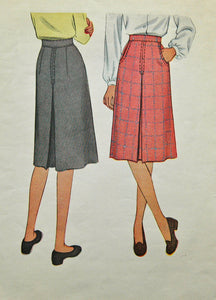 1940's McCall Skirt Pattern - Waist 26 - No. 6300