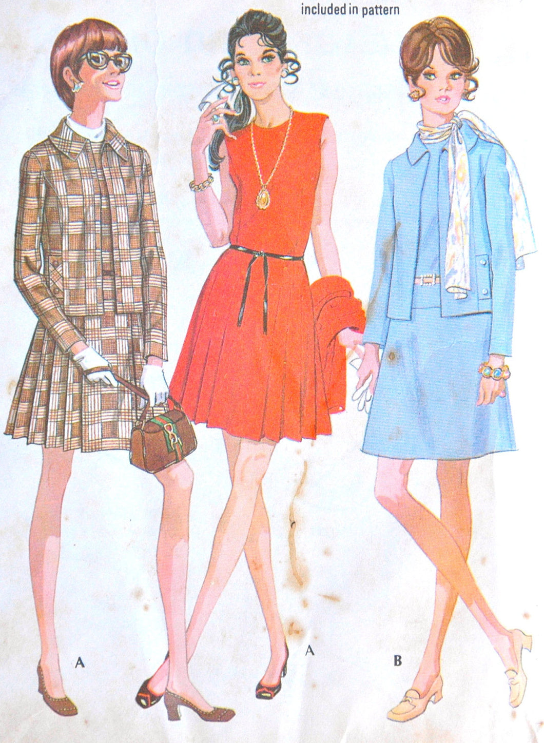 DISCOUNTED** 1960's McCall's Dress and Jacket Pattern - Bust 32 1/2