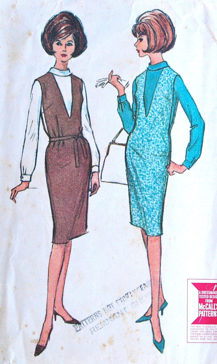 1960's McCall's Junior Dress and Blouse Pattern - Bust 31 1/2