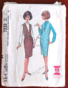 1960's McCall's Junior Dress and Blouse Pattern - Bust 31 1/2""