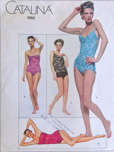 "1970's Vogue American Designer Catalina Swimsuits - Bust 32.5"" - No. 1893"