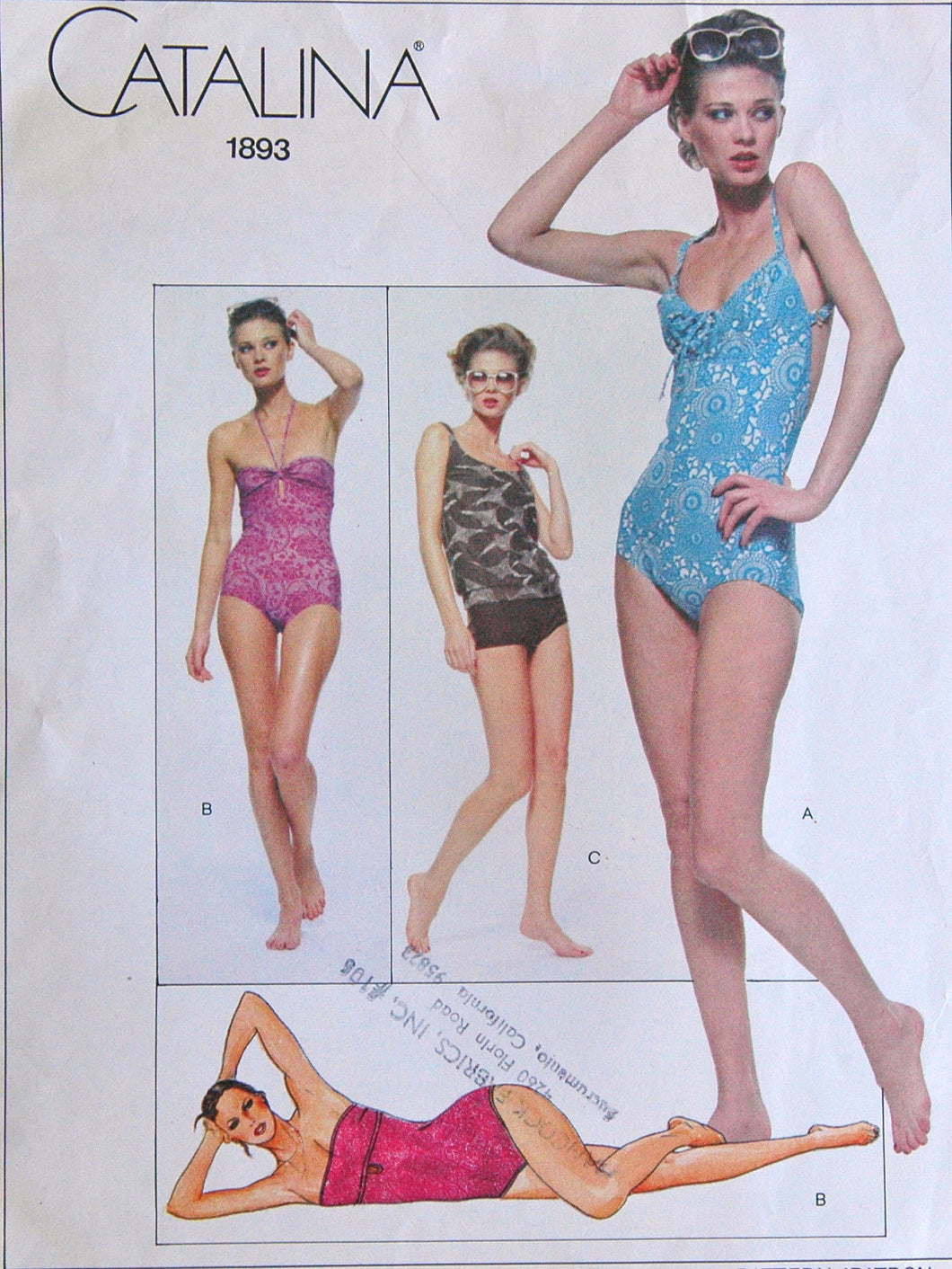 1970's Vogue American Designer Catalina Swimsuits - Bust 32.5