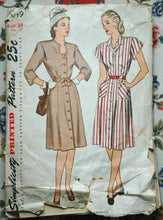 1940's Simplicity Keyhole Neckline Dress Pattern - Bust 34 - No. 1649