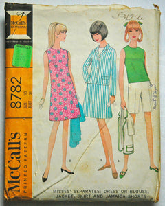 DISCOUNTED** 1960's McCall's Dress, Blouse, Jacket, Skirt and Short Pattern - Bust 31