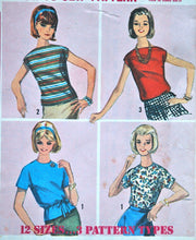 1960's Simplicity Pre-Teen Blouse Pattern - Bust 31