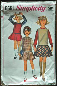 DISCOUNTED** 1960's Simplicity Girl's Jumper and Blouse Pattern - Chest 28 - No. 6661