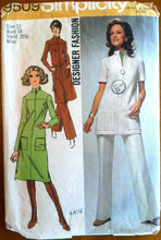 1970's Simplicity Misses' Dress or Tunic - Bust 34 - no. 9509