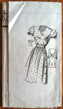 "DISCOUNTED - 1940's Marian Martin Scalloped Neck Belted Dress - Bust 28"" - UNCUT - no. 9072"