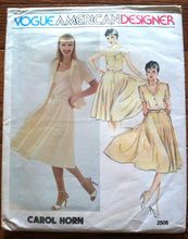 "1970's Vogue American Designer Carol Horn Top, Camisole and Skirt Pattern - Bust 32.5"" - UNCUT - no. 2508"