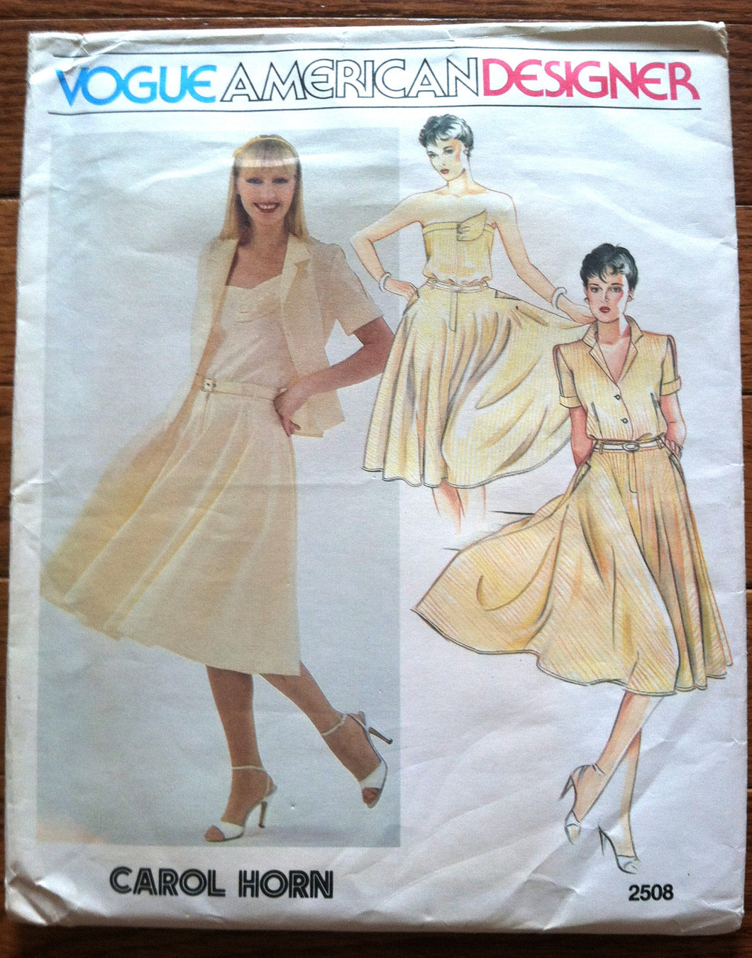 1970's Vogue American Designer Carol Horn Top, Camisole and Skirt Pattern - Bust 32.5