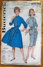 "1960's Butterick Wiggle and Rockabilly Dress Pattern - Bust 34"" - no. 9509"