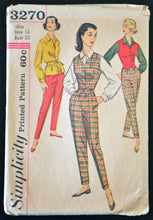 1950's Simplicity Shirt and Pants Pattern - Bust 32 - no. 3270