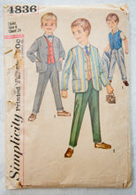 1960's Simplicity Boy's Suit pattern - Size 6 - No. 4836