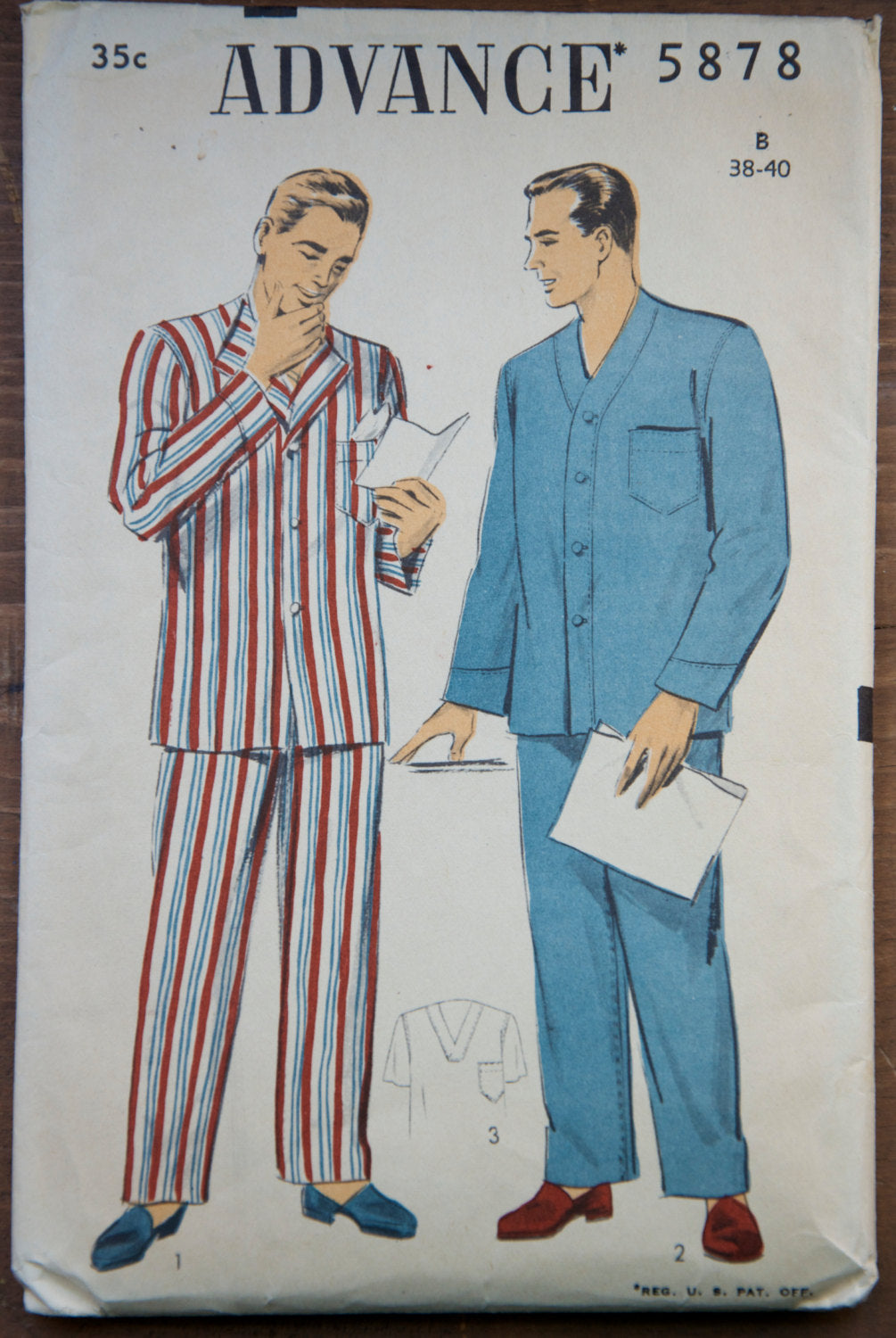 1950's Advance Men's Pajama pattern - Chest 38-40