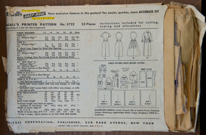"1950's McCall's Wiggle and Rockabilly Dress pattern - Bust 32"" - No. 3722"