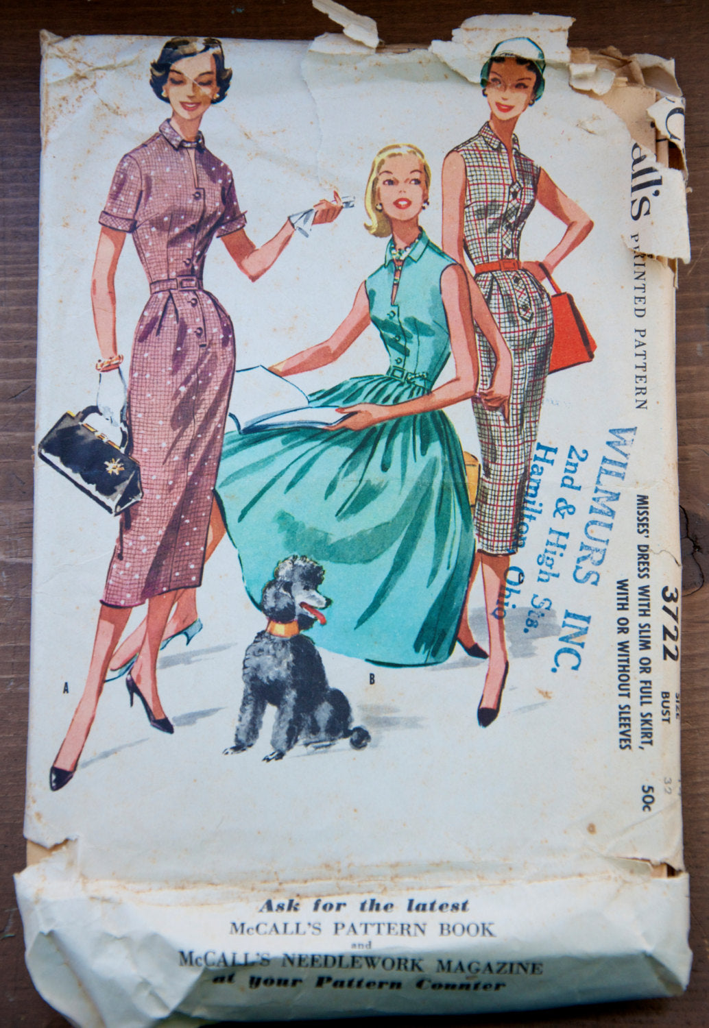 1950's McCall's Wiggle and Rockabilly Dress pattern - Bust 32
