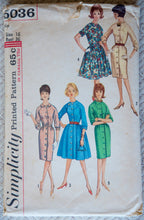1960's Simplicity Misses' One Piece Dress with Two Skirts - Bust 36 - No. 5036