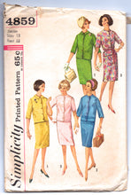 "1960's Simplicity Jacket and Skirt Pattern - Bust 33"" - No. 4859"