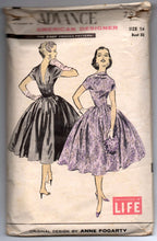 "1950's Advance American Designer Evening Dress Pattern with full skirt - Bust 32"" - No. 7914"