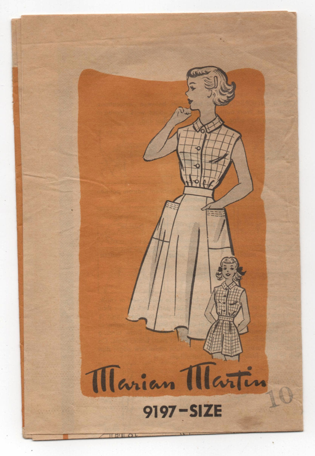 1950's Marian Martin Junior's Blouse, Shorts and Skirt Pattern - Bust 28