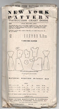 "1940's New York One-Piece Button-Up Day Dress Pattern - Bust 38"" - No. 839"