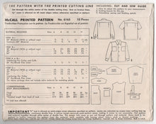 1940's McCall Boy's Button-Up Shirt Pattern - Size 12 - No. 6165