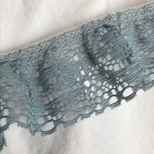 1970's Blue Polyester Lace Trim